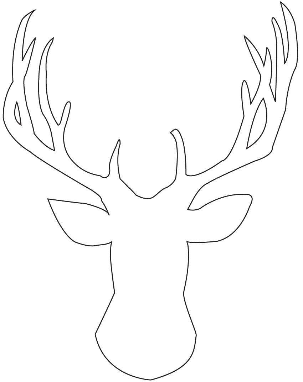 Easy DIY Glitter Deer Head Silhouette Canvas Art | 11 ...