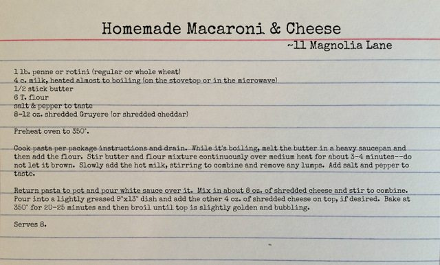 homemade mac and cheese recipe