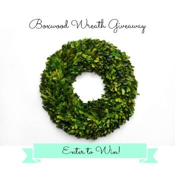 new wreath giveaway button