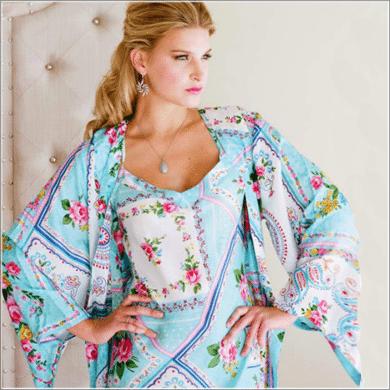 Plum Pretty Sugar robe set
