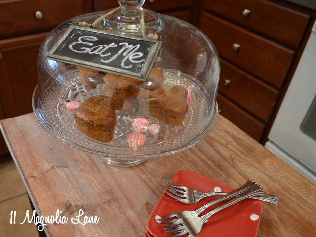 cake dome chalkboard sign