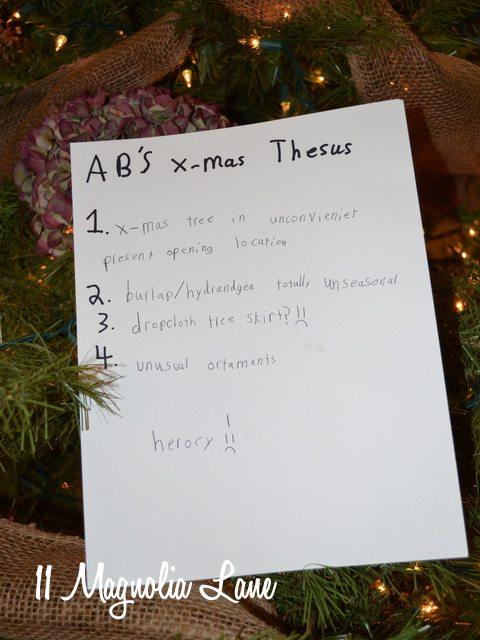 Christmas thesis