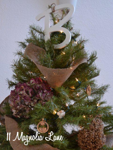 Christmas tree monogram