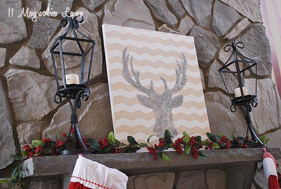 deer-mantel-holiday