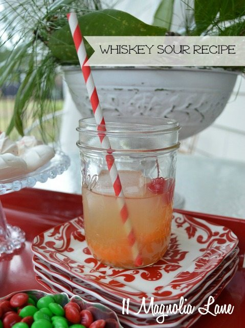 whiskey whisky sour recipe