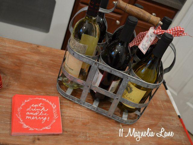 vintage wine bottle carrier rack