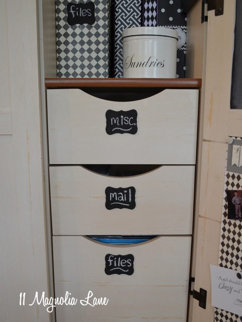 file drawers chalkboard labels