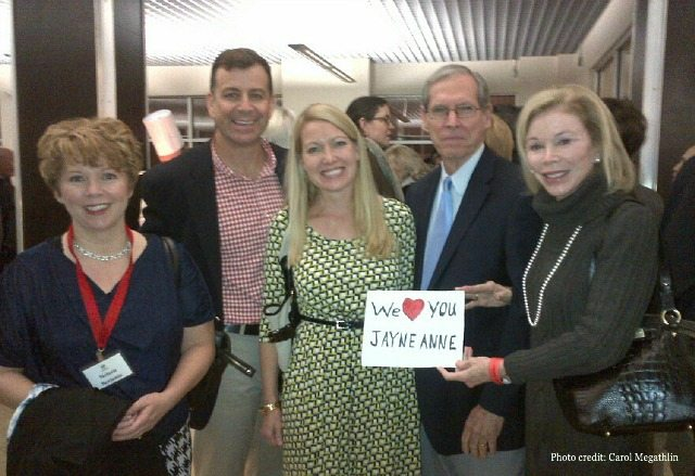 """At the """"Meet the Authors"""" reception. From L to R: Melanie Benjamin, Chris, me, Bill and Carol Megathlin"""
