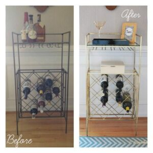 Spray Paint Makes Everything Better {New Martini Bar}