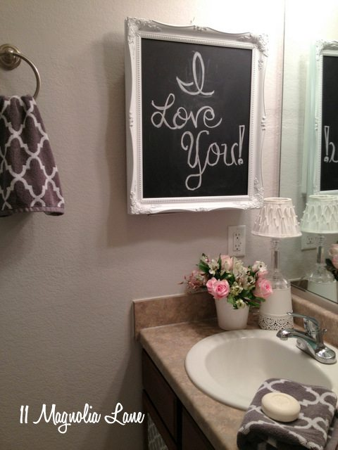 powder room gray white