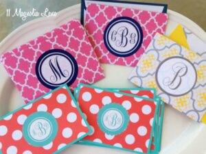 Tutorial:  DIY Monogrammed Labels and Notecards