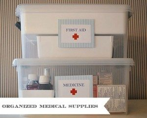 Medicine & First Aid Storage {Organizing Life}