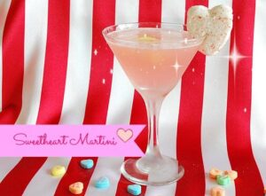 "A ""Sweet"" Heart Martini just in time for Valentine's Day"