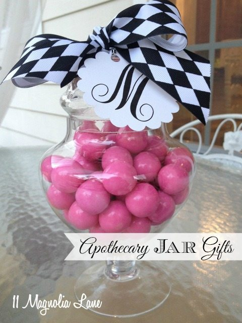 apothecary jar gumballs monogram