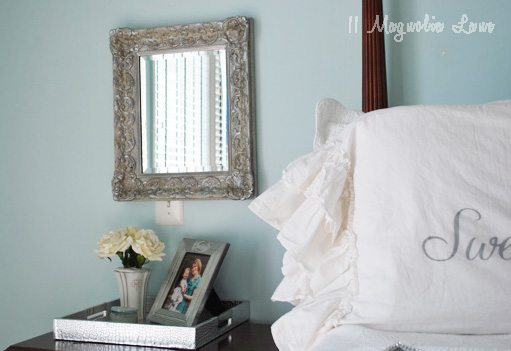 How to 'Antique' a Mirror {with Silver Leaf}