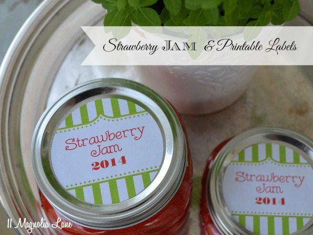 strawberry jam homemade free label