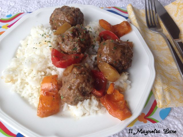 Hawaiian Meatball Dinner