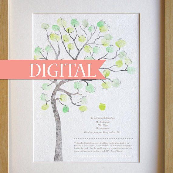 teacher Apprecation Finger Print Tree