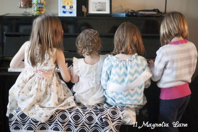 First Birthday Kids playing piano
