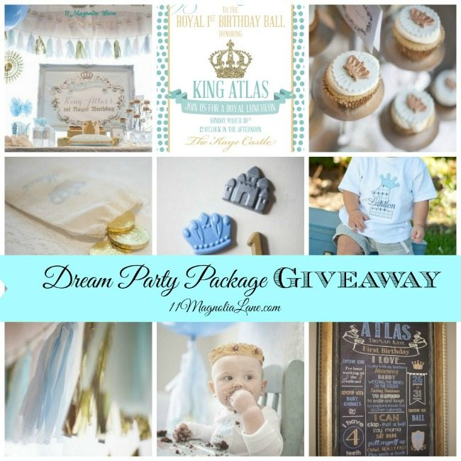 Dream Party Package Giveaway Winner (plus more pictures from Atlas's Royal Celebration)