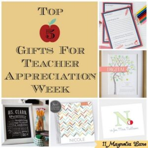 Our Top 5 Gifts for Teacher Appreciation Week {PLUS 5 Awesome Giveaways}
