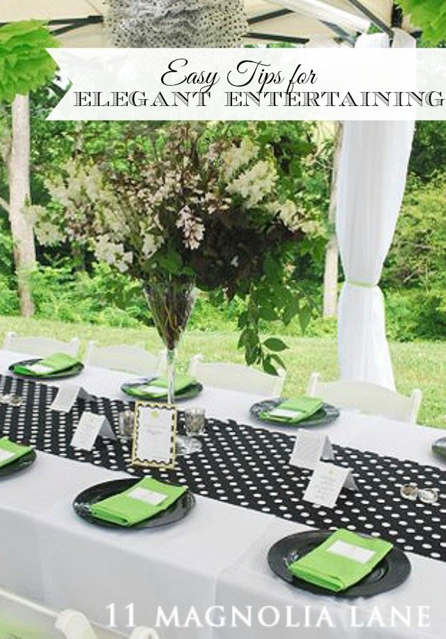 Easy tips from a professional event planner to make your parties, events, showers and holidays feel more special and elegant.