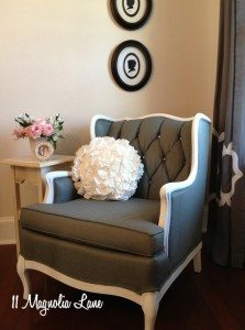 Fabric painted chair