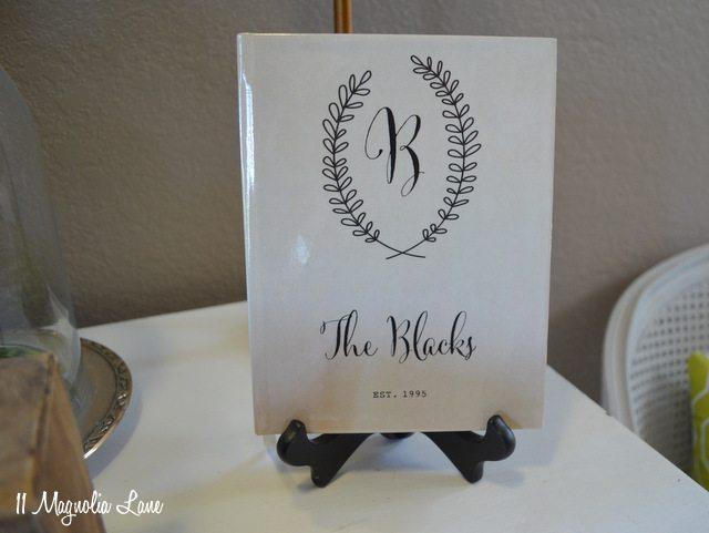 guest book monogrammed