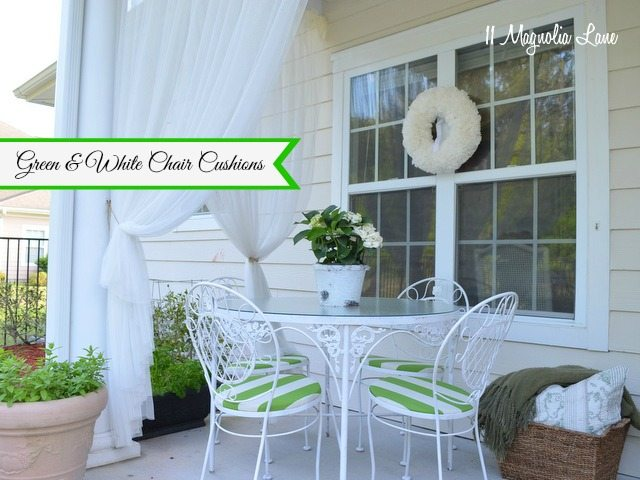 green striped outdoor fabric