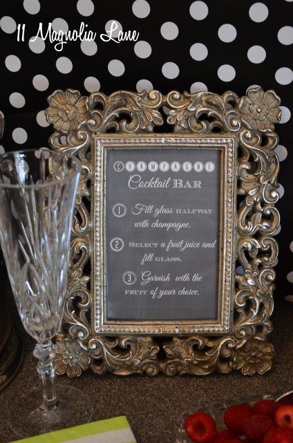 photograph relating to Mimosa Bar Sign Printable Free identify Straightforward Fun: Champagne Cocktail and Mimosa Bar (and