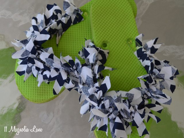 fabric strip flip flop craft