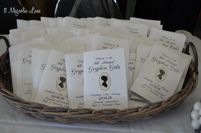 Jane Austen Regency gala programs