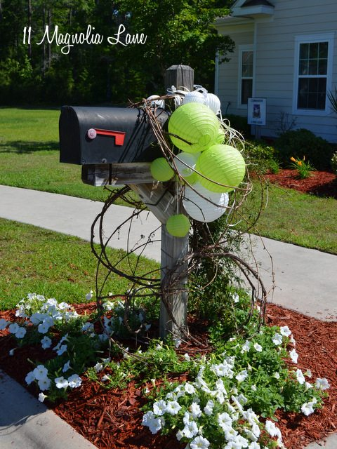 Hang paper lanterns on the mailbox for a party