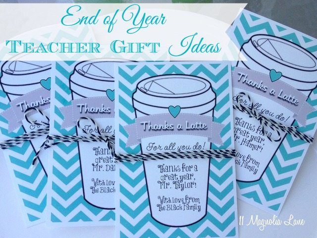 Thanks a latte teacher gift card idea