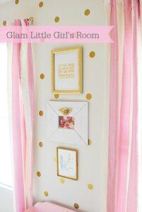 Gold & Pink Polkadot Girl's Room