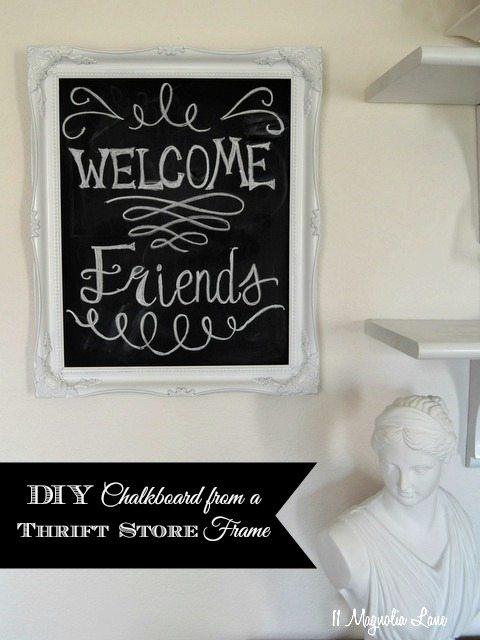 diy chalkboard thrift store frame - Diy Chalkboard Frame