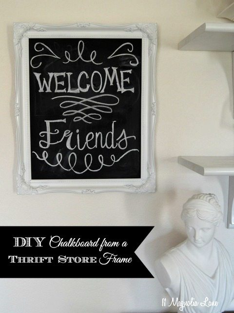 DIY chalkboard thrift store frame
