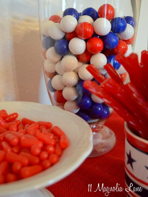 Red, white, & blue candy