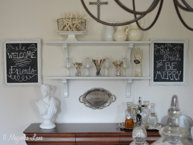 Open Shelving Dining Room