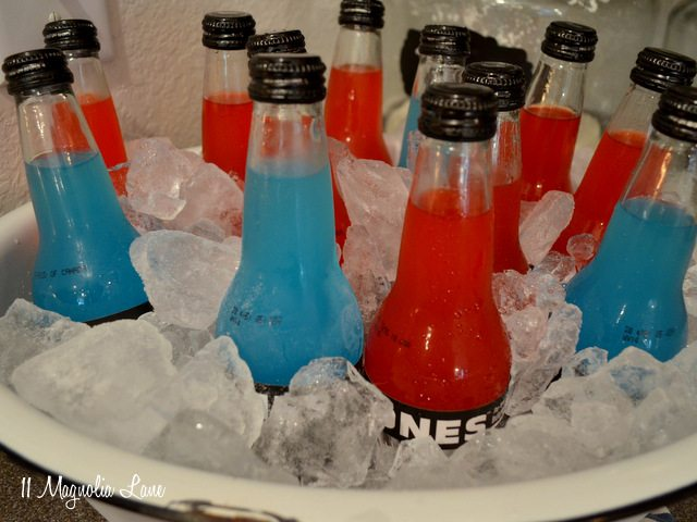Red and blue Jones soda for July 4th