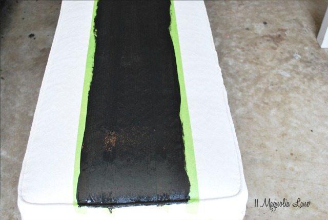 Black Stripes on Bench Seat