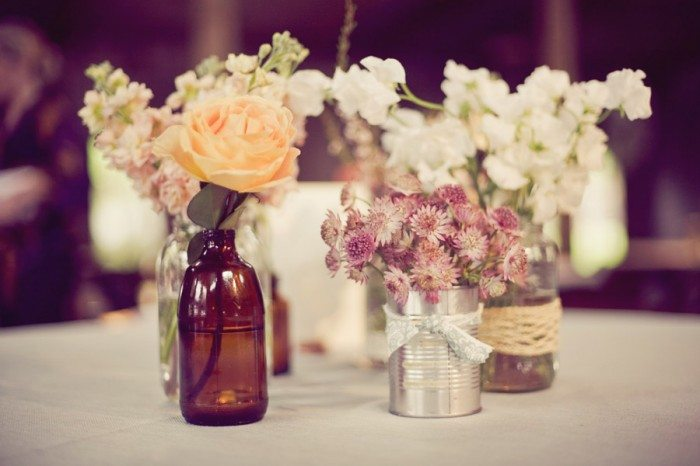 DIY Beer Bottle and Can Centerpieces