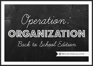 Operation Organization Back to School Edition Series at 11 Magnolia Lane