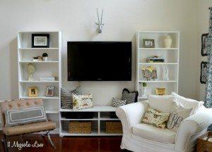 """Living room Ikea """"built-ins"""""""