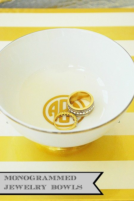 DIY Gold Jewelry Bowls {Easy Gift Idea}
