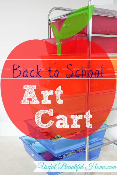 Operation Organization: Back to School Art Cart for Kids