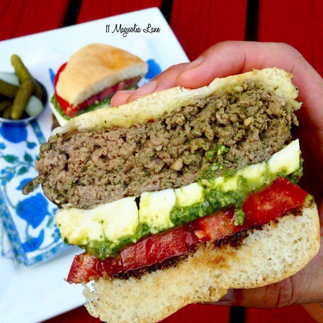 Caprese Burger 4