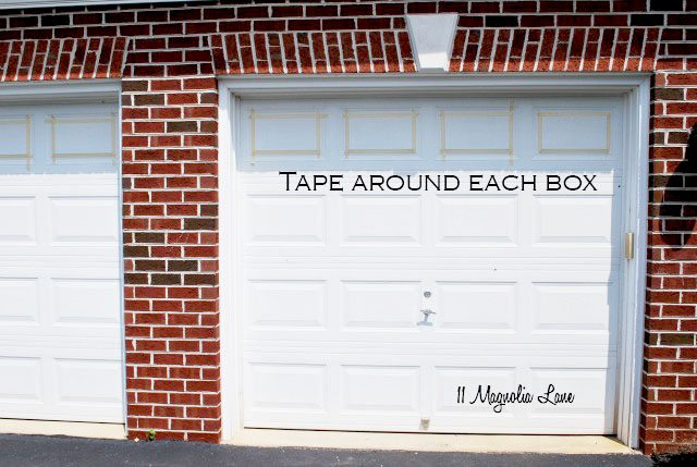 Merveilleux Tape And Painting Carriage Garage Doors