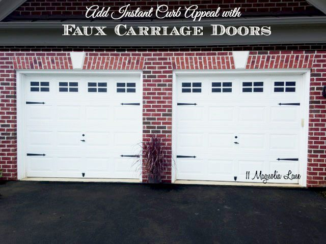 Add instant curb appeal with faux carriage garage doors for How much to build a carriage house