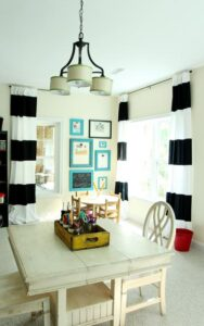 Operation: Organization--Kids' Artwork Display Wall by Less Than Perfect Life of Bliss